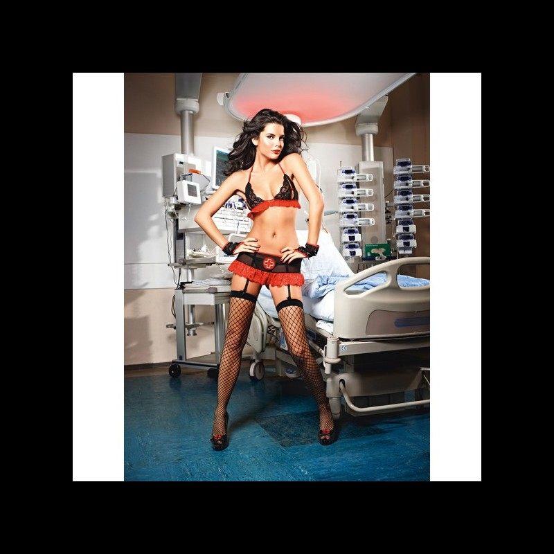 Baci Lingerie - Peek-A-Boo Nurse Set