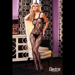 Electric Lingerie - Crotchless Lace Fishnet Bodystocking