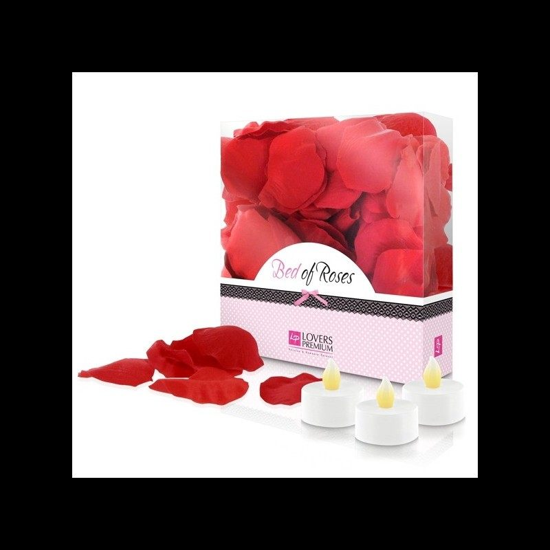 LoversPremium - Bed of Roses Led Candle Set
