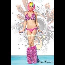 Leg Avenue - Confetti Fur Bikini Set