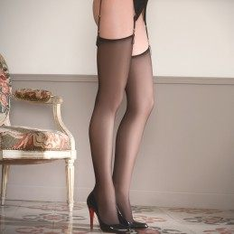 Sheer cut and curled stocking
