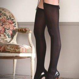 Opaque cut and curled stockings