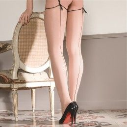 Back seamed stockings
