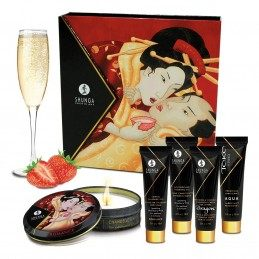 SHUNGA - GEISHA'S SECRETS GIFT SET SPARKLING STRAWBERRY WINE