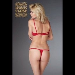 MAISON CLOSE - PETIT SECRET OPEN THONG RED
