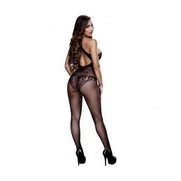 BACI - FLORAL LACE CROTCHLESS BODYSTOCKING ONE SIZE