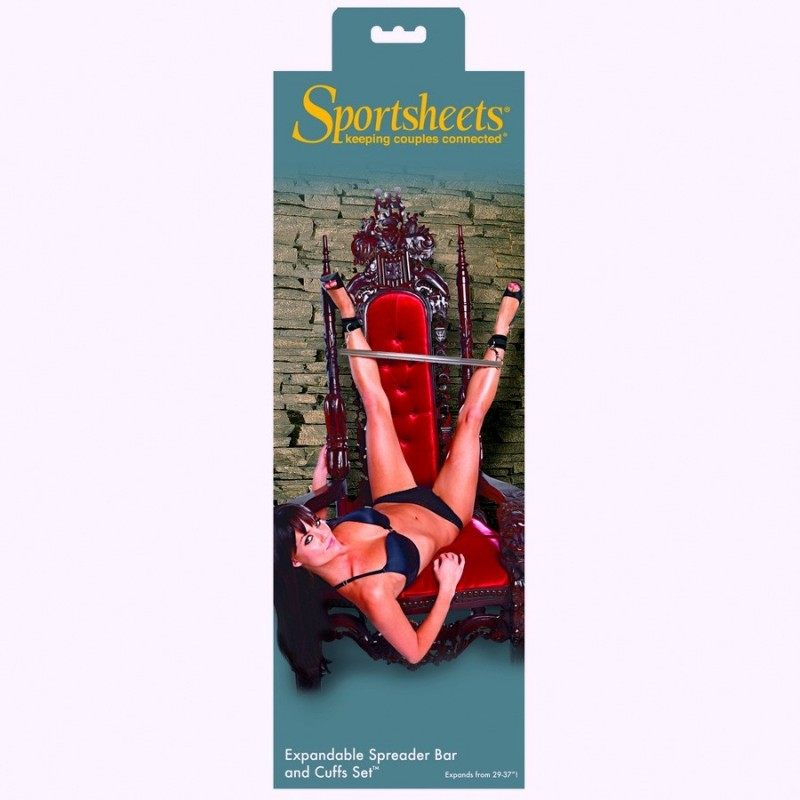 SPORTSHEETS - EXPANDABLE SPREADER BAR & CUFFS SET