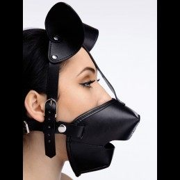 MASTER SERIES - Pup Puppy Play Hood + Breathable Ball Gag