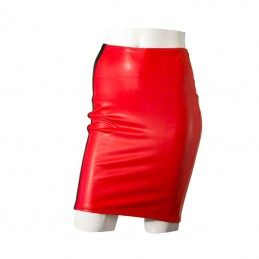 GP - DATEX PENCIL RED LATEX SKIRT