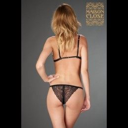 MAISON CLOSE - PETIT SECRET OPENABLE TANGA IN LACE