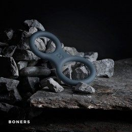 BONERS - SILICONE COCK RING AND BALL STRETCHER