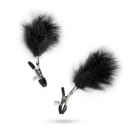 EASYTOYS - ADJUSTABLE NIPPLE CLAMPS WITH FEATHERS