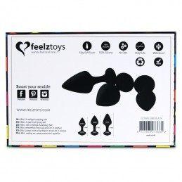 FEELZTOYS - BIBI BUTT PLUG SET 3 PCS BLACK