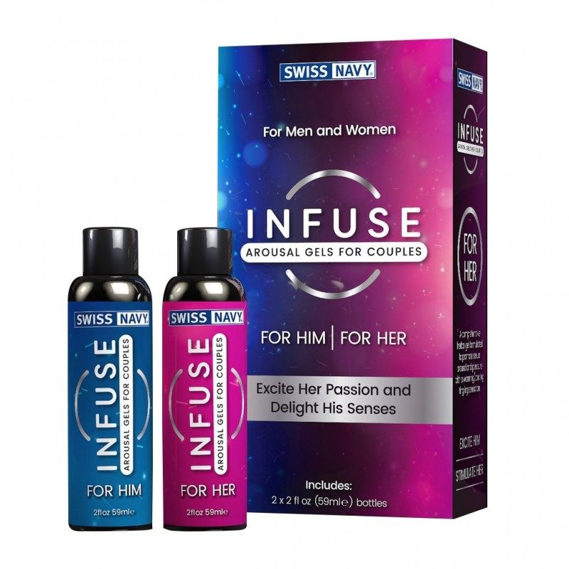 SWISS NAVY - INFUSE 2-IN-1 AROUSAL GEL FOR HIM & HER 2 X 59 ML