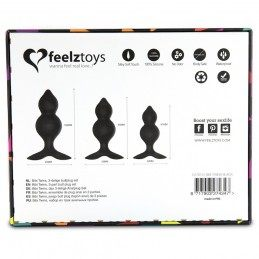 FEELZTOYS - BIBI TWIN BUTT PLUG SET 3 PCS