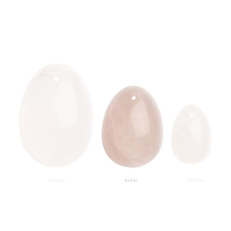 LA GEMMES - YONI EGG ROSE QUARTZ 1 PCS - S, M OR L SIZE