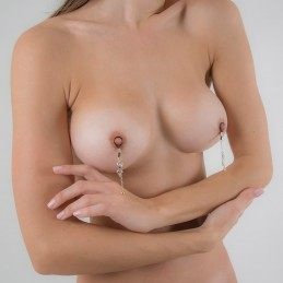SYLVIE MONTHULE - WOMAN'S NON PIERCING DESIRE NIPPLE RINGS INGOLD OR SILVER