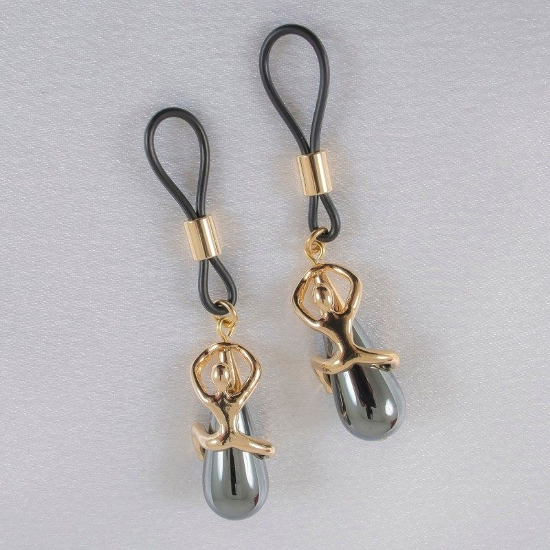 SYLVIE MONTHULE - WOMAN'S NON PIERCING DESIRE NIPPLE RINGS IN GOLD OR SILVER