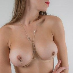 SYLVIE MONTHULE - WOMEN'S IMPATIENT DESIRE BREAST CHAIN NON-PIERCING NIPPLE RINGS IN GOLD