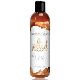 INTIMATE EARTH - NATURAL FLAVORS GLIDE SALTED CARAMEL 120 ML