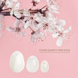 LA GEMMES - YONI EGG SET CLEAR QUARTZ (L-M-S)