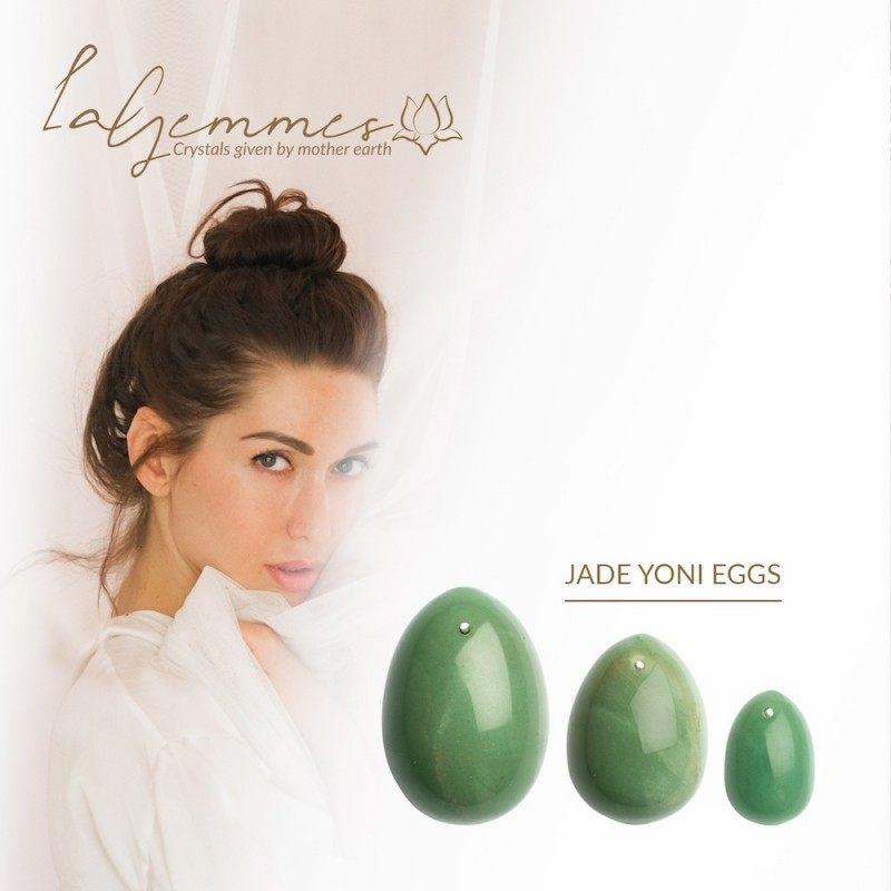 LA GEMMES - YONI EGG SET JADE (L-M-S)