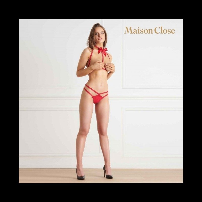 LE PETIT SECRET - SET HARNESS AND THONG - RED