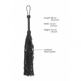 PAIN - BARBED LEATHER SUEDE WIRED FLOGGER