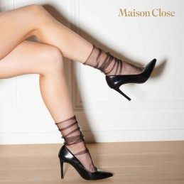 MAISON CLOSE - NYLON SOCKS BLACK/GOLD