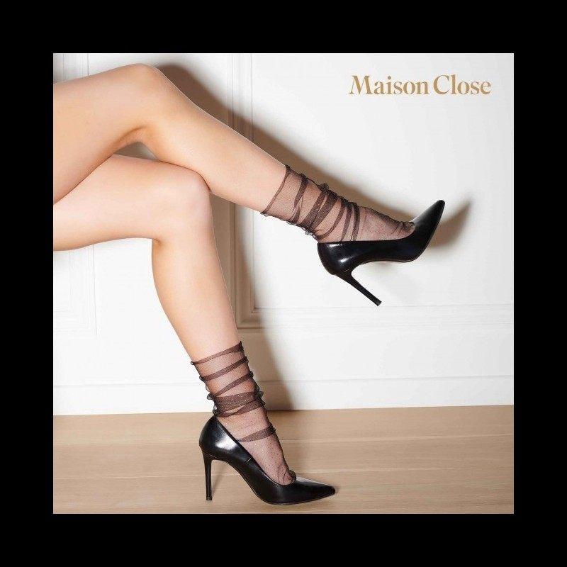 MAISON CLOSE - NYLON SOCKS BLACK/GOLD