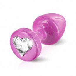DIOGOL - ANNI R BUTT PLUG HEART PINK 25 MM