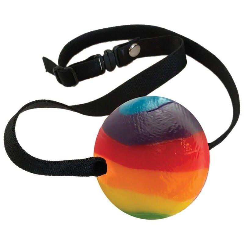 CANDY BALL GAG RAINBOW MULTI FRUIT