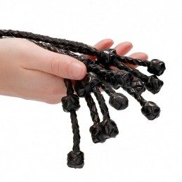 PAIN - SHORT LEATHER BRAIDED FLOGGER