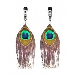 PEACOCK FEATHER NIPPLE CLAMPS (PAIR)