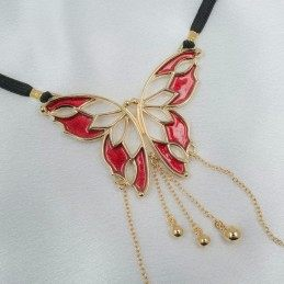 WOMEN'S BUTTERFLY G-STRING WITH PENDANTS IN GOLD