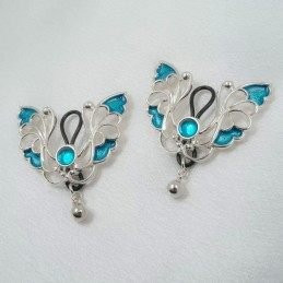 SILVER BUTTERFLY NIPPLE RING JEWELRY