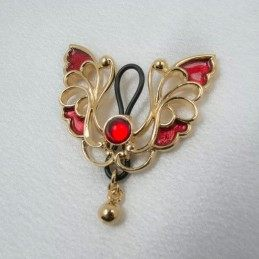 GOLD BUTTERFLY NON-PIERCING NIPPLE RING JEWELRY