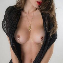 SYLVIE MONTHULE - GOLD BREAST COLLAR SECRET CARESS