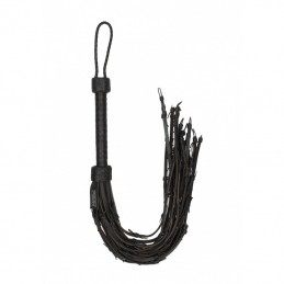 PAIN - SADDLE LEATHER WITH BARBED WIRE FLOGGER 76CM