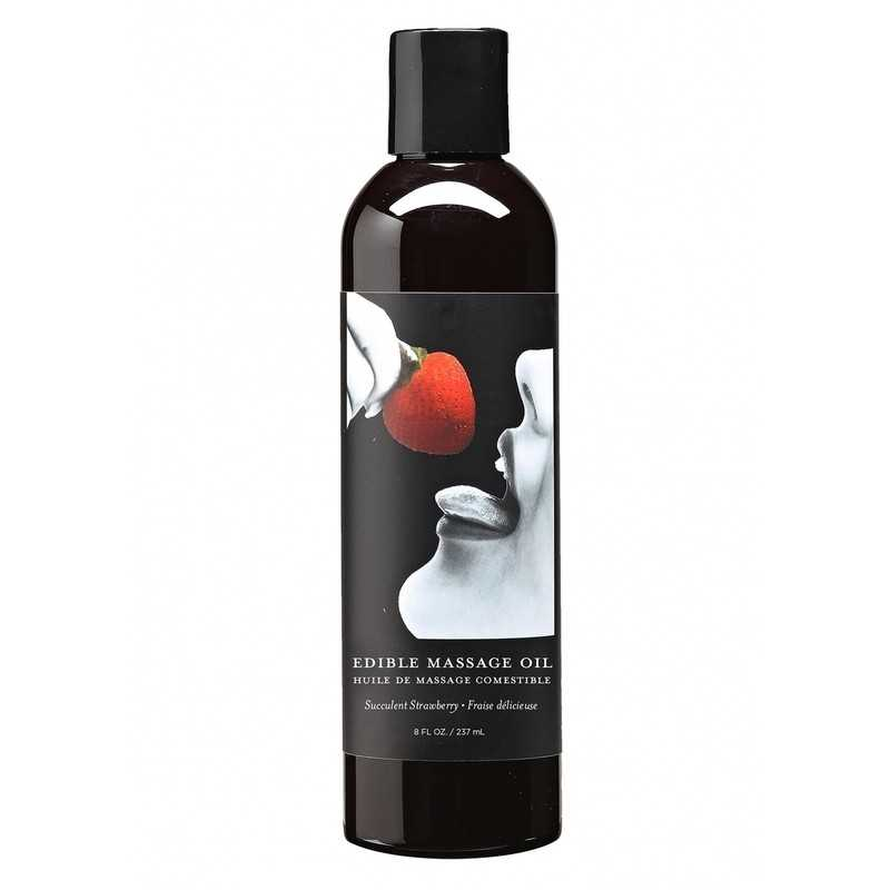 EARTHLY BODY - STRAWBERRY FLAVOR EDIBLE MASSAGE OIL 237 ml