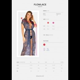 Buy OBSESSIVE - FLOWLACE PEIGNOIR with the best price