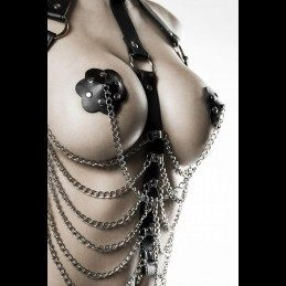 GREY VELVET - 3-OSALINE BDSM HARNESS KOMPLEKT ONE SIZE