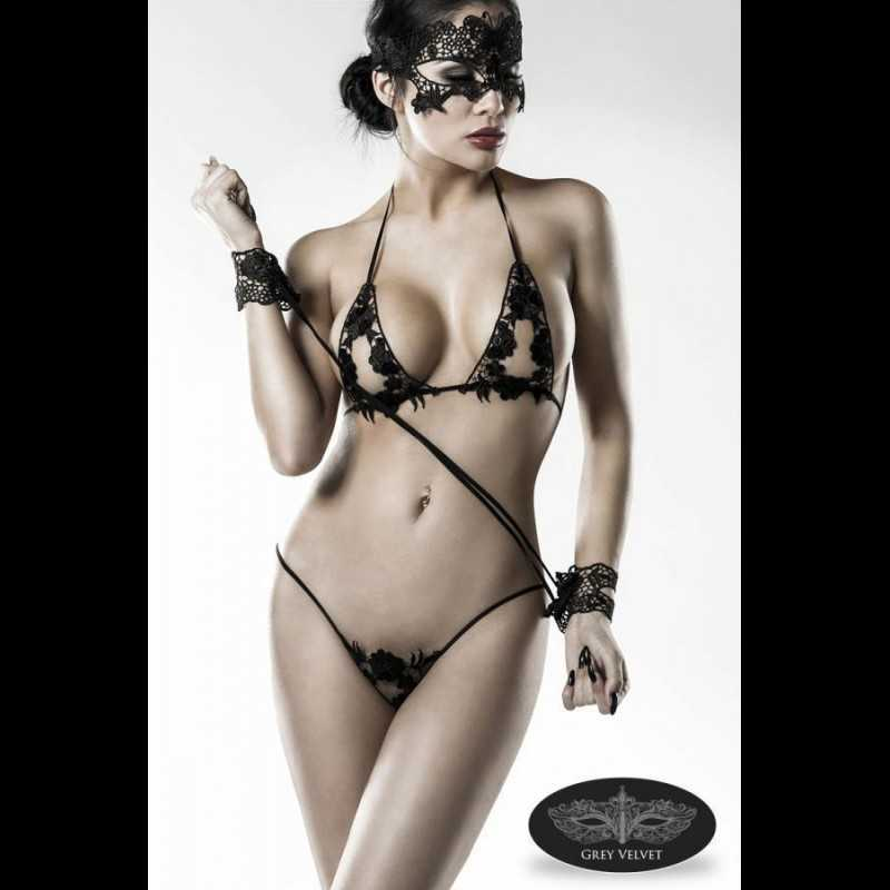 Buy GREY VELVET - 4-PART LACE SET with the best price