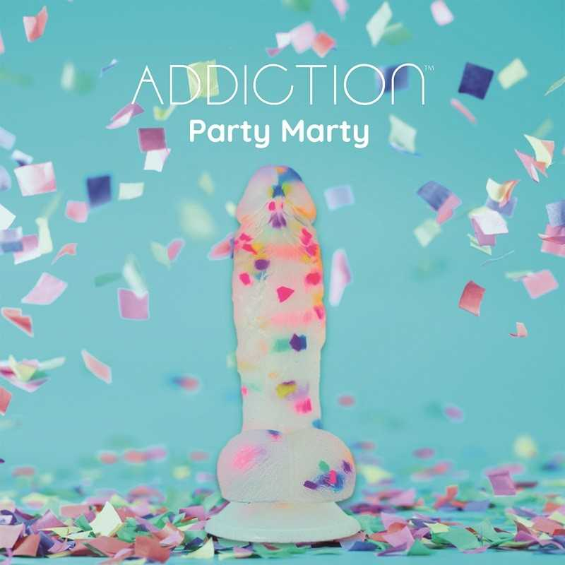 Buy ADDICTION - PARTY MARTY DILDO 19CM FROST AND CONFETTI with the best price