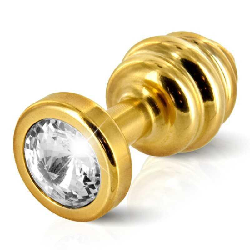 Купить DIOGOL - ANO BUTT PLUG RIBBED GOLD PLATED по лучшей цене в Эстонии