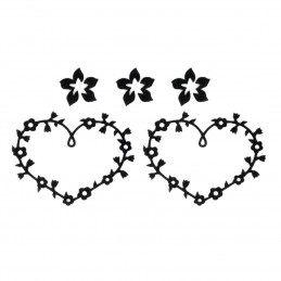 3D Tattoos Heart Flower