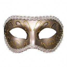 S&M - Grey Masquerade Mask